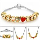 Emoji Bracelet Necklace 18k Gold Plated Charms 3pcs 5pcs 7pcs 10pcs beads Set