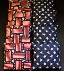 USA AMERICAN Patriotic Stars and Stripes 8 ACA Regulation Corn Hole Game Bags