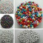 Mixed multi-color of Numbers and letters acrylic beads DIY Spacer Beads DF501