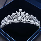 6cm High Heart Pearl Crystal Crown Wedding Bridal Party Pageant Prom Tiara