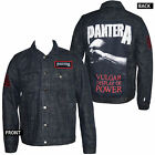 Authentic PANTERA Vulgar Display of Power Patched Denim Jacket Black S-2XL NEW
