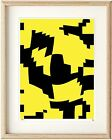Modern Abstract Yellow Black LE Epson Print in Ikea, A3 Clipframe or print only