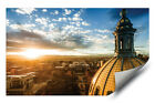 Aerial View Denver Capitol Building & Rocky Mountains HD Vinyl Wall Art Poster