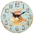 Large Vintage Style, Shabby Chic Clock - Large Number, Floral, Cafe Style