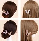 Lady Girls New Butterfly Claw Crystal Alloy Rhinestone Hair Clip Jaw Hairpin Hot