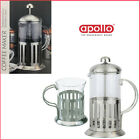 Glass Coffee Plunger French Press 'Apollo' Filter Grounded Coffee Maker Pot Cup
