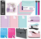 BLOK 3 Colour STATIONERY RANGE Pencil Case Notebook Pens Folders Erasers {Anker}