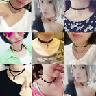 2 PCS Chic Women's Retro Gothic Black Lace Necklace Collar Short Clavicle Chain