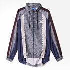 ADIDAS Originals Women Blue Shell Tile Hooded Windbreaker Jacket UK 12 14 16