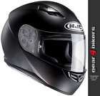 HJC CS-15 Solid Matt Black Motorcycle Helmet Scooter Plain CS15 CS 15