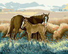 Horse & Baby Needlepoint Canvas  H206