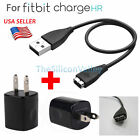 Wall Charger & USB Charging Wire Cable Cord For Fitbit Charge HR Band Wristband