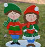 lawn stakes yard art Christmas children Xmas lawn art decorations decore