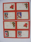 40 XMAS PAPER LABEL STICKER TAGS CUTE TRADITIONAL PRESENT GIFT WRAP CHILD ADULT