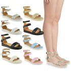 NEW LADIES WOMENS FLAT CHUNKY CLEATED SOLE SANDALS PLATFORM FLATFORMS SHOES SIZE