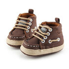 Handsome Newborn Baby Boy Kids Casual Cowboy First Walkers Lace-Up Sneakers
