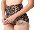 Ladies Firm Control Tummy Bum Lift Slimming Shaper Leopard Print Girdle Knickers