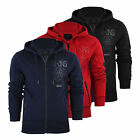 Mens Hoodie Smith & Jones Jacobean Zip Up Hooded Sweater