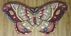 Royal Palace Butterfly Beauty 3' X 5' Handmade 100% Wool Area Rug Red
