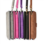 Premium Leather Wristlet Clutch Handbag Flip Wallet Case Cover For iPhone 7 Plus
