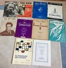 Lot of 10 Pieces of Piano Sheet Music Incl The Fantasticks, Blue Mirage, Etc