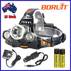CE 13000lm LED Headlamp 3XXM-L T6 Head Light Torch 18650 Battery+AU/Car Charger