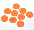 Smooth Orange Resin Buttons.23mm. 2 Holes. Sewing card craft projects Free P&P