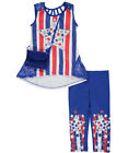 """RMLA Little Girls' """"Patriotic Glitter"""" 2-Piece Outfit with Purse (Sizes 4 - 6X)"""
