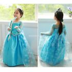 Baby Fashion Blue Dress Girls Long Sleeve Dress Spring Autumn Party EN24H01