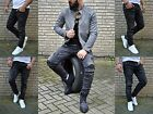 Young Fashion Skinny Herren destroyed Rocker Biker UK STYLE Jeans Röhre Hose