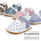 Baby Boy Girl Leopard Crib Shoes Toddler Rubber Soles Sandals Size Newborn to 18