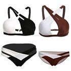Sexy Women Cross Bandage Hollow Out Bikini Set Swimsuit Swimwear Bathing EN24H