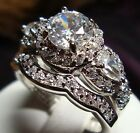 1.05 CT NEW DIAMOND ENGAGEMENT RING VINTAGE 10KT SOLID WHITE GOLD ROUND CUT