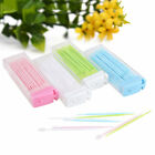 2 Way Oral Dental Plastic Tooth Pick 50 pcs Interdental Brush with Portable Case