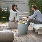 Patio Conversation Set 3 Piece Bistro Outdoor Garden Furniture Wicker Pouf Table