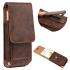 Leather Vertical Case Pouch Holster Swivel Belt Clip for Samsung S8 Plus iPhone