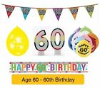 AGE 60 - Happy 60th Birthday Party Balloons, Banners & Decorations