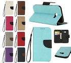 NEW Leather Personalised Color Flip Wallet Case & Hand Rope for Samsung J7 Prime