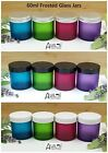 120ml Large Frosted Glass Ointment Jar Aromatherapy  Container BLUE PINK PURPLE