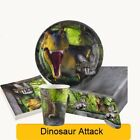 DINOSAUR ATTACK Birthday Party Range - Dino Fun Tableware Balloons & Decorations