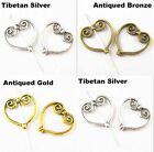18 pcs 20 mm 3 colors Retro Antique Metal Alloy Heart Spacers beads Diy hot sell