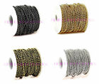 5m/100m 5 colors 2.4 mm round ball beads chain Diy jewelry accessories hot sell