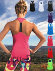Damen Performance Sport Tank Top Gr.XS-XL in 8 Farben Strap Back Quick Dry TR027