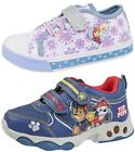 Boys Girls Character Light Up Sports Trainers Kids Touch Fastening Running Shoes