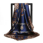 """Women's Shawl Leopard Silky-satin Square Scarves Office Fashion 35""""35"""" 12 Colors"""