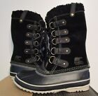 NIB Womens 6-11 Sorel Joan of Arctic Shearling Leather Warm Winter Boots Black