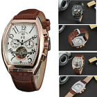 Men's Watch Classic Automatic Mechanical Self-Winding Date  Leather Wrist Watch