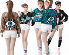 Women's Fashion Long Sleeve Sequined Bomber Jacket Party Club Coat Outwear Tops