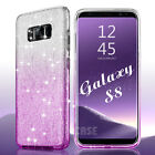 For Samsung Galaxy S8 Plus Bling Slim Hybrid Glitter Shockproof Hard Case Cover