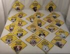 """22 Breed-DOG """"(BREED) ON BOARD"""" Car Window Sign New w /Suction Cup 5�x 5� Plastic"""